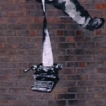 "Detail from ""Create Escape"" by Banksy."